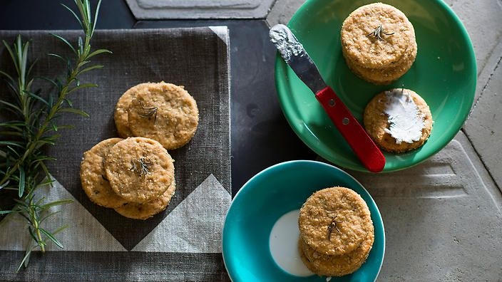 Walnut and rosemary crackers | Biscuit recipes | SBS Food