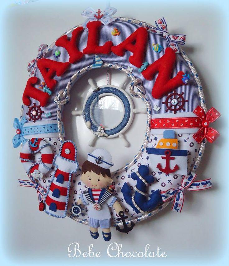 felt sailor, felt pirate, keçe korsan kapı süsü, deniz temalı kapı süsü, bebek kapı süsü, korsan odası, keçe çapa, ahşap kapı süsü, keçe korsan, bahriyeci kapı süsü, bebechocolate