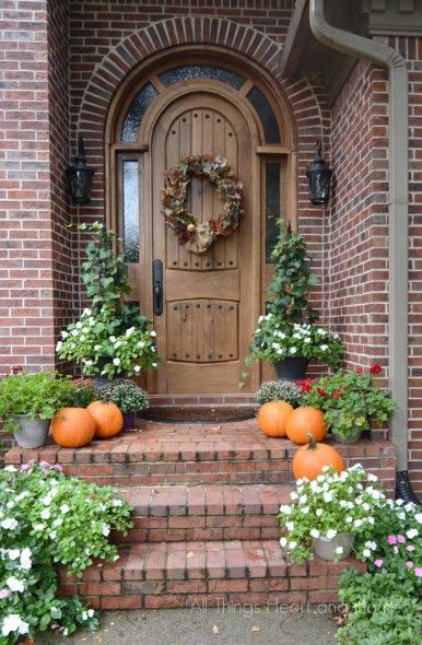 873 best fall decorating ideas images on pinterest fall Beautiful fall front porches