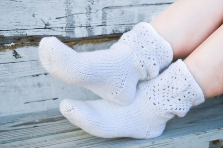 """Woolen socks hand knitted """"Padus"""" by warmheels on Etsy"""