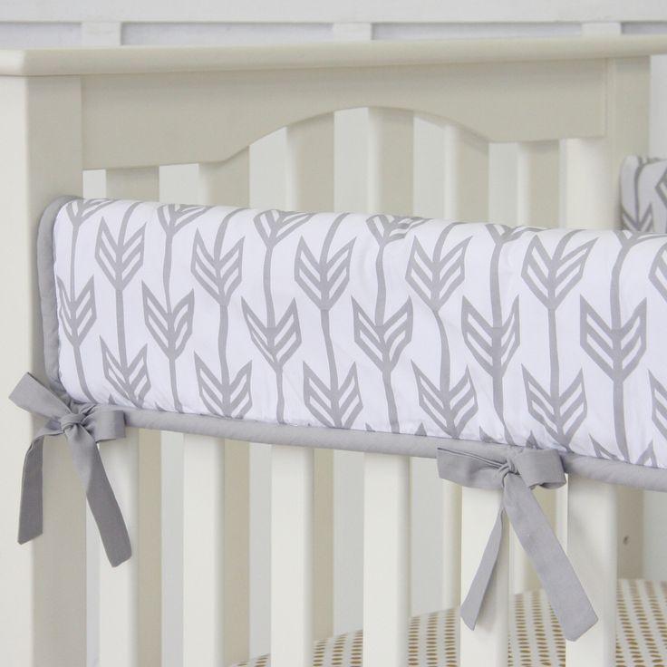 Caden Lane Baby Bedding - Arrow Crib Rail Cover, $68.00 (http://cadenlane.com/arrow-crib-rail-cover/)