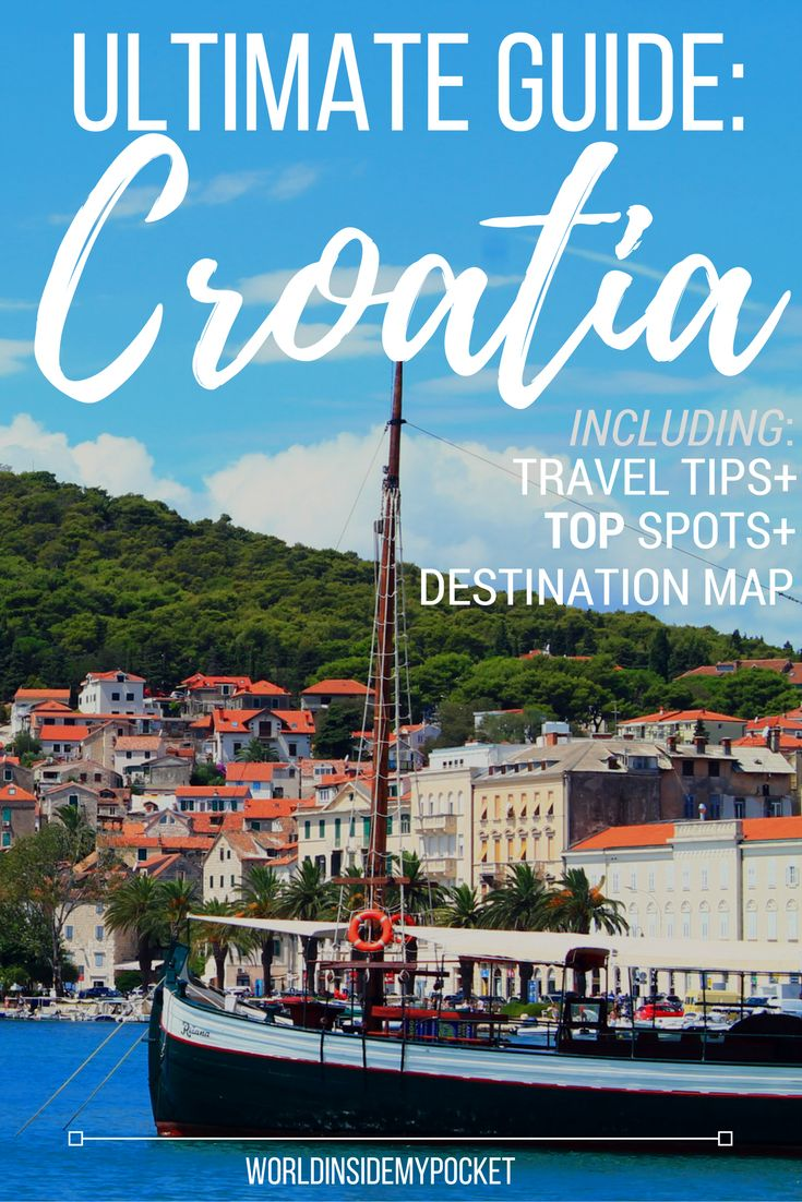 Here's my top tips for travelling to and around the Mediterranean country of Croatia, including a list of my recommended Croatian destinations and a map.