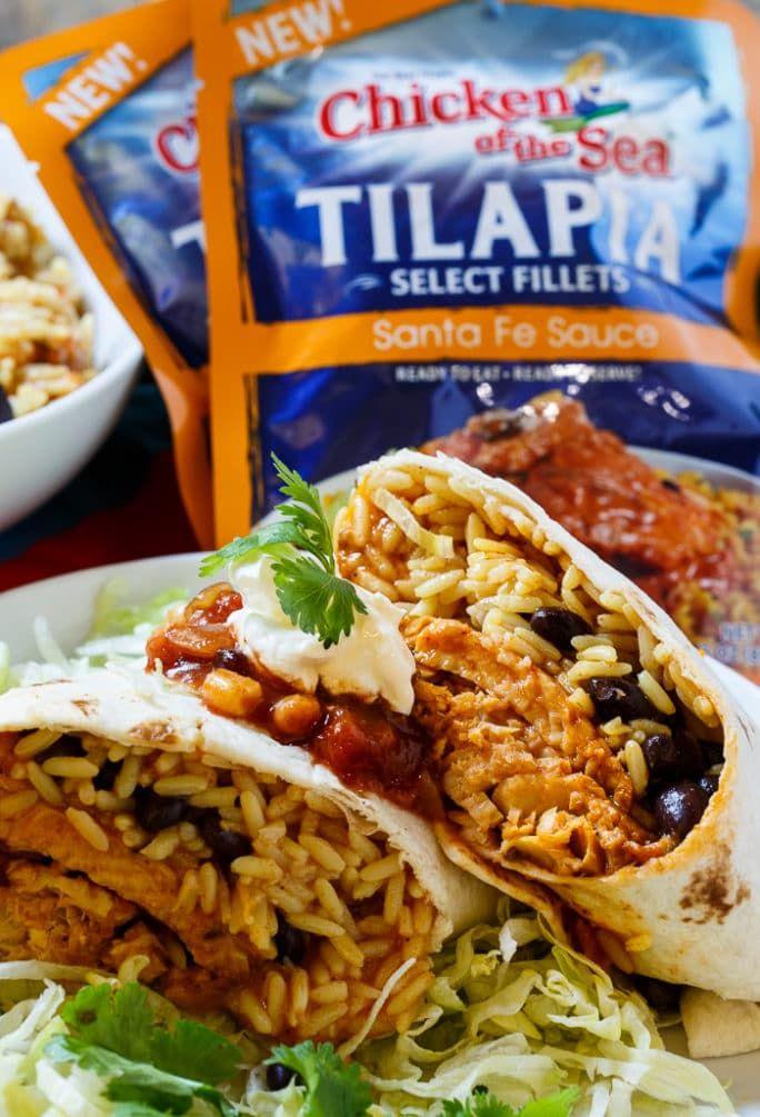 Santa Fe Tilapia Burrito