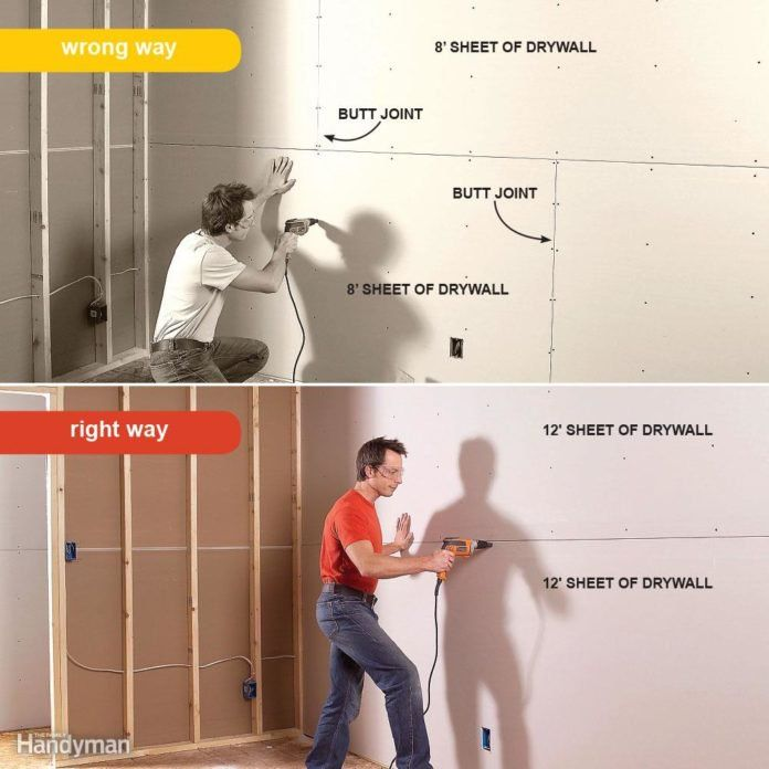 7 Drywall Installation Mistakes You Ve Probably Made Before Drywall Installation Drywall Basement Remodeling