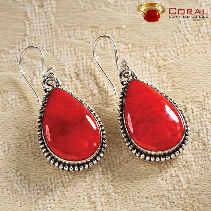 Adorn these beautiful coral earrings from http://coral.org.in/