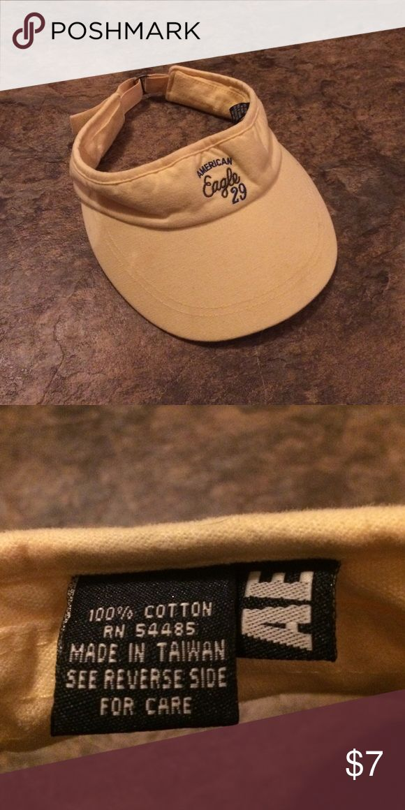 American Eagle Yellow Women's Visor American Eagle Women's Light Yellow Visor. Like new! American Eagle Outfitters Accessories Hats