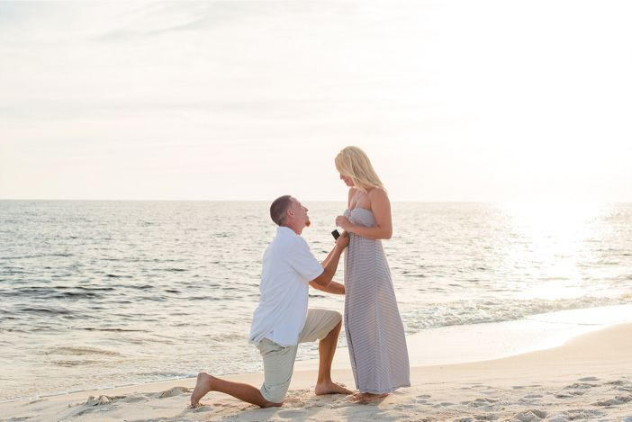 This beach proposal is incredibly beautiful, but the way he asked makes it even more special.