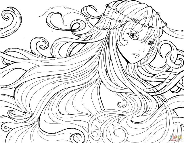 Manga coloring pages   499x640