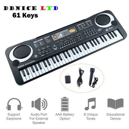 61 Key Children's Digital Keyboard Music Piano Keyboard On Sale for Adults Or Children Beginners Electronic W/Mic Organ