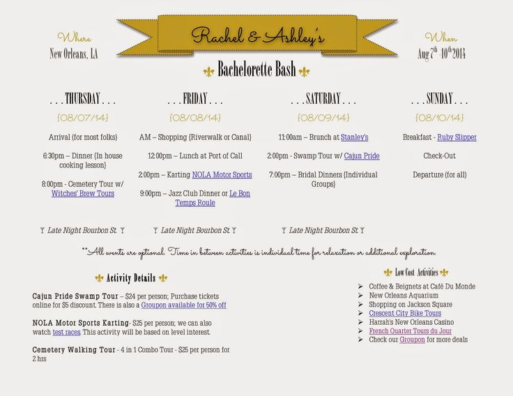 Best  Bachelorette Itinerary Ideas On   Bachelorette