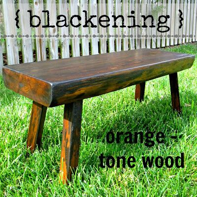 Blacken Orange Tone Wood Without Stripping   Down To Earth Style