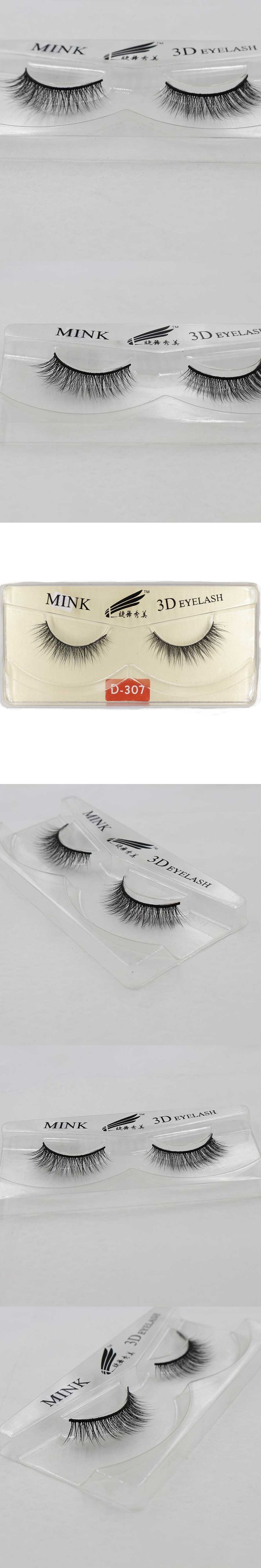 5 Pairs Natural Long 3D Mink Eyelashes Extension False Eye Lashes +Box Cilios Posticos Naturais Faux Cils Nep Wimpers D307-S5