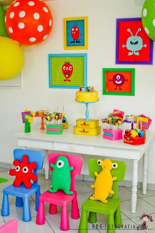 Fiesta Temática de Monstruos - Monsters | Arcos con Globos - Decoración de Fiestas Infantiles : Fiestas Infantiles Decoracion