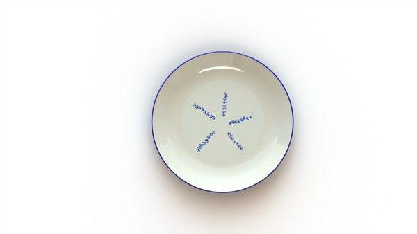 Cockatoo Island inspired graphics on ceramics.