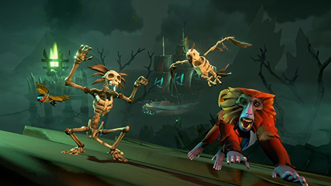 Sea Of Thieves Goes Overboard With Skeletons In This Month S Fort Of The Damned Update Sea Of Thieves Sea Shanties Halloween Update