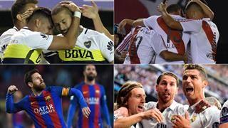 Horarios y TV: un sábado con Boca, River, Barcelona, Real Madrid y rugby con los Jaguares