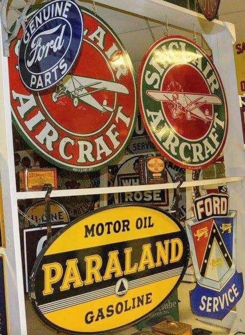rare large gasoline porcelain sign - 495×676