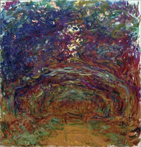 claude-monet-Path under the Rose Trellises - Claude Monet