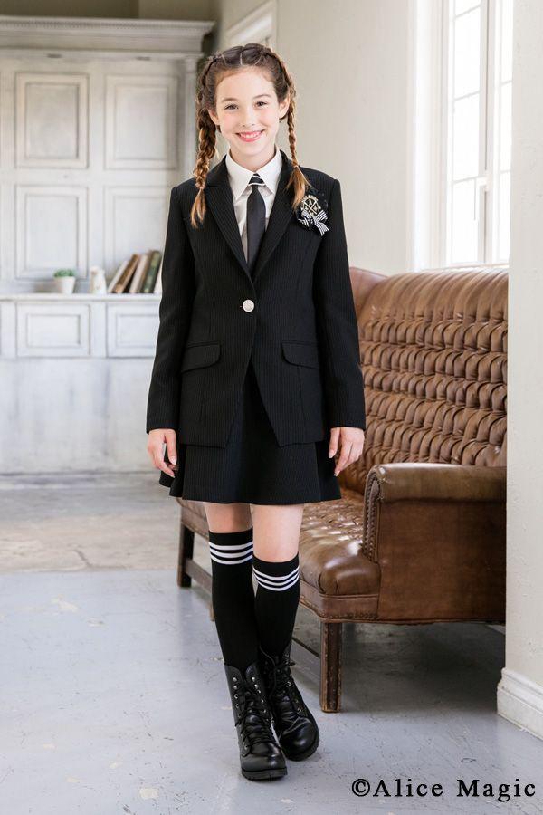 卒業式スーツ4点セット 卒業式 スーツ 女の子 アリスマジック 子供服 150・160・165 卒園式服 小学校卒業式スーツ ジュニア 卒業式  女児 子供スーツ 卒業式 服装 フォーマル(3028652)