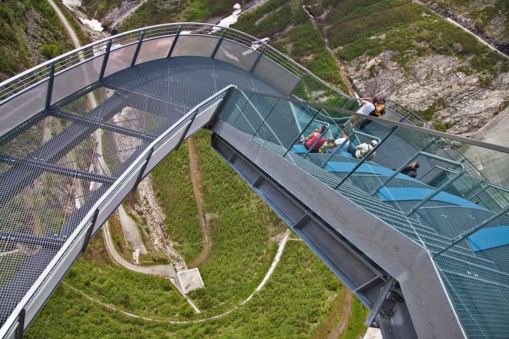 Malta Staudamm, Austria, Blick nach unten. ©Carambol