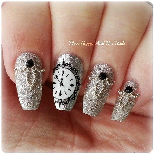 Clock ... Nail Art Design