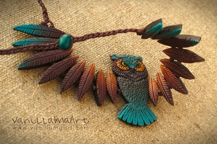 VaniLlamaArt - handmade: Sowa druga.. a jednak pierwsza ;) / Owl necklace.. second one but still first ;)