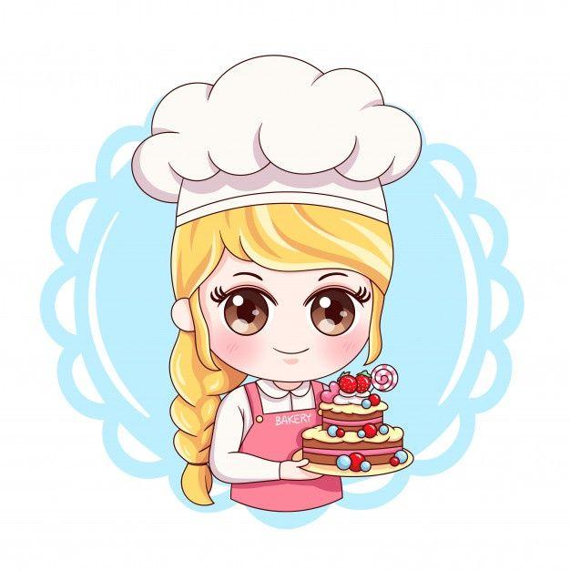 Female Baker Premium Vector Premium Vector Freepik Vector Background Food Business Menu Bakery Logo Design Cartoon Art Logo