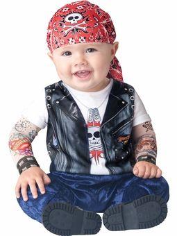 Infant Boy Halloween Costume: Baby Biker Costume