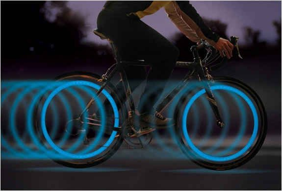 Bike Tire Lights | Be seen at night in the bike lanes