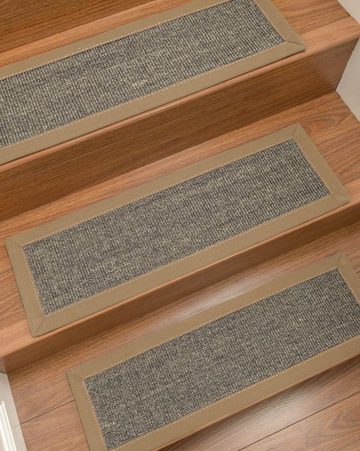 Best Shadows Sisal Greyish Blue Custom Stair Treads 9 X 29 400 x 300