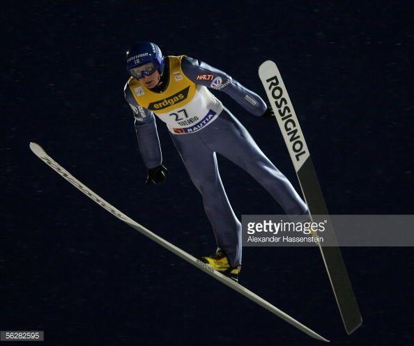 Tami Kiuru of Finland compete at the FIS World Cup on November 26 2005 in Kuusamo Finland