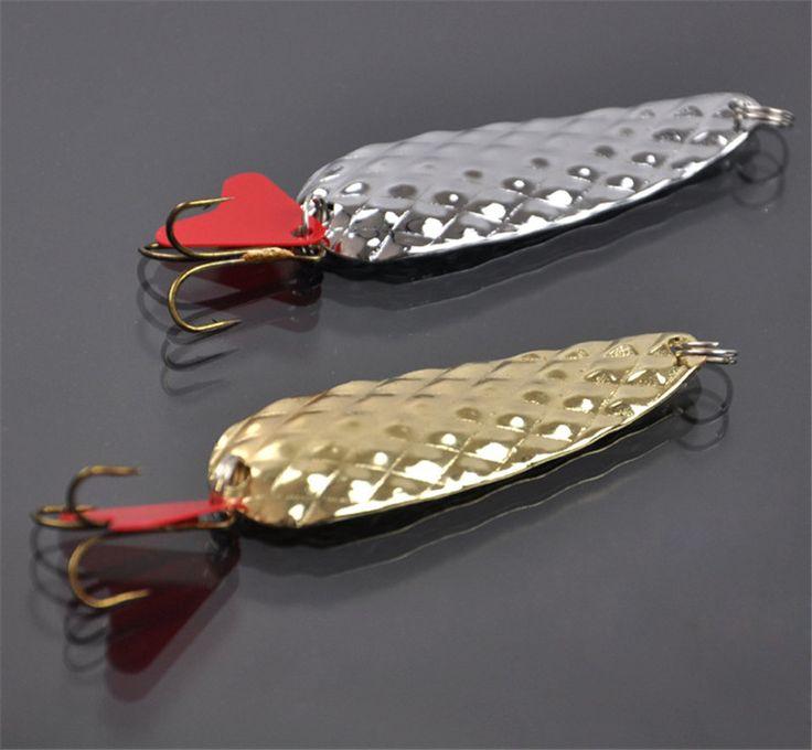 2 unid/set tiro largo señuelo de la pesca de aleación de Metal Peche 8 g señuelo duro con el sonido rebanada Wobbler carpa trastos de pesca Spinner Bait artes