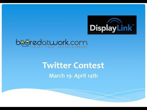 DisplayLink and Booredatwork are giving out 4 AOC LED USB portable Monitor. Find out how you can win one.