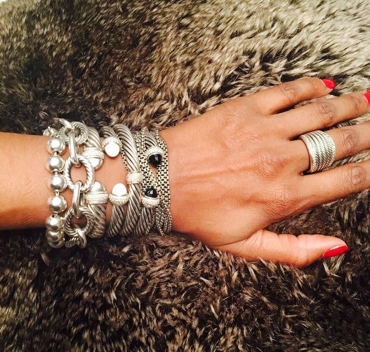 David Yurman Stacked Bracelets :-)