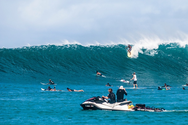 Laird Hamilton, Standup Paddle Surfing, Hanalei Bay