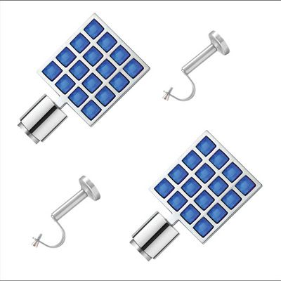 Buy CME Stainless Steel Dark Blue Curtain Bracket With Single Support Poles - Set Of 4 by CME, on Paytm, Price: Rs.1599
