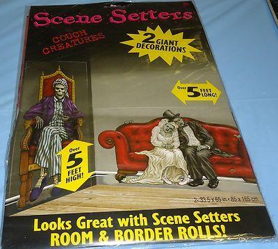 halloween scene setter skeleton bat reaper pumpkins skulls choose your item
