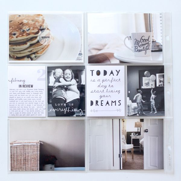 carly robertson. monthly PL approach. takes pics with an eye for things she is grateful for. Love that and all the gorgeous white one these pages.