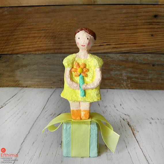 Paper Doll Sculpture Papier Mache Doll Paper Mache Art Doll