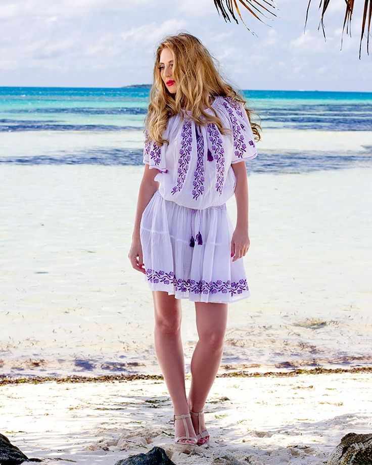 HANDMADE EMBROIDERED DRESS - Viola Motif