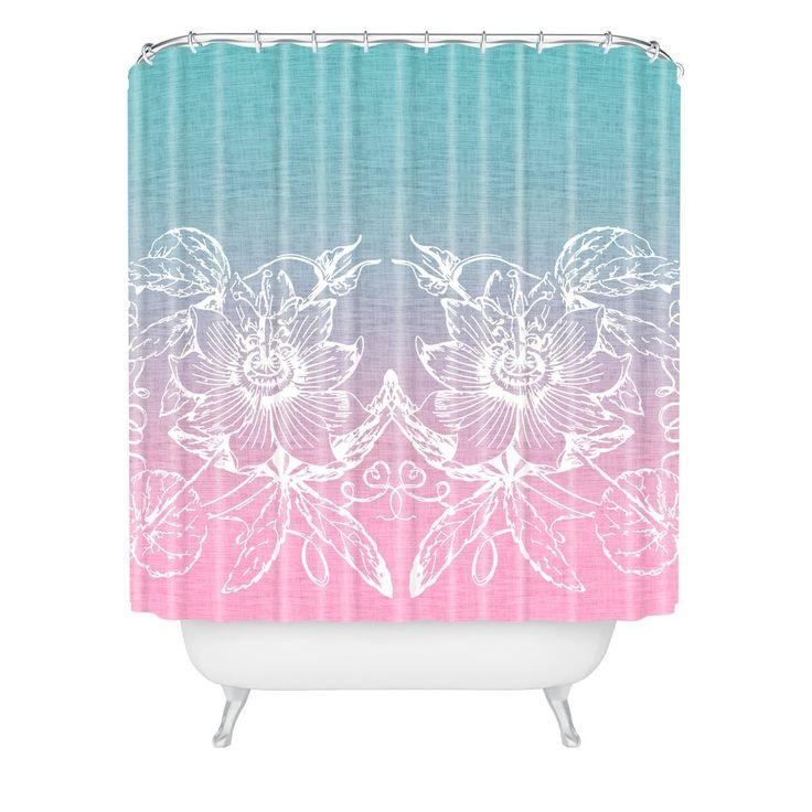 Caroline Okun Endearment In Pink Shower Curtain
