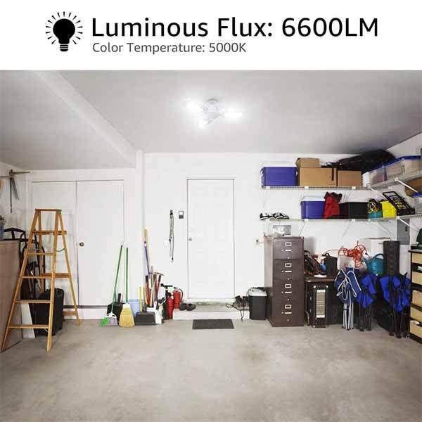 60w E26 Led Garage Lights 6600lm Deformable Garage Lighting Bulb