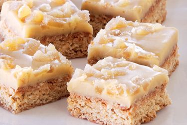 Ginger oat crunch recipe, NZ Woman's Weekly – Global Byte Cafe in Invercargill makes this ginger oat slice to satisfy ginger lovers. It's the perfect partner to a hot coffee. – foodhub.co.nz