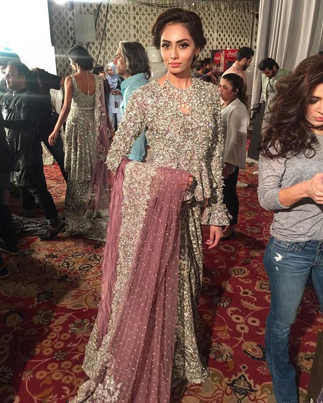 Backstage for Republic Womenswear Pakistani couture