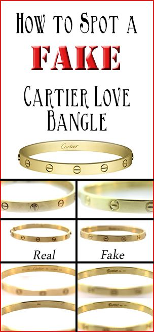 How to spot a FAKE Cartier Love bangle