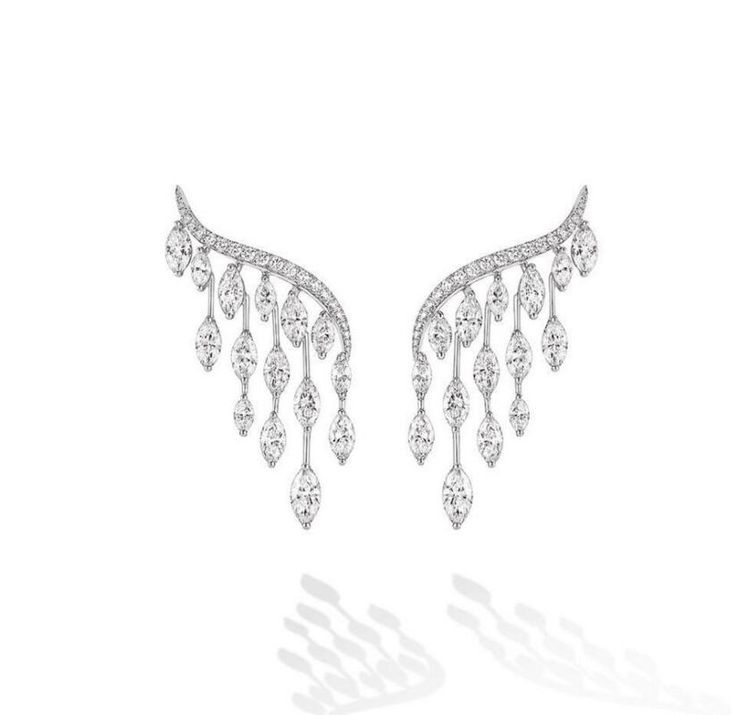 Brand New Angel wings and Clear Cubic Zircon Stud Earrings for Women To Wedding Party 2colors XM004