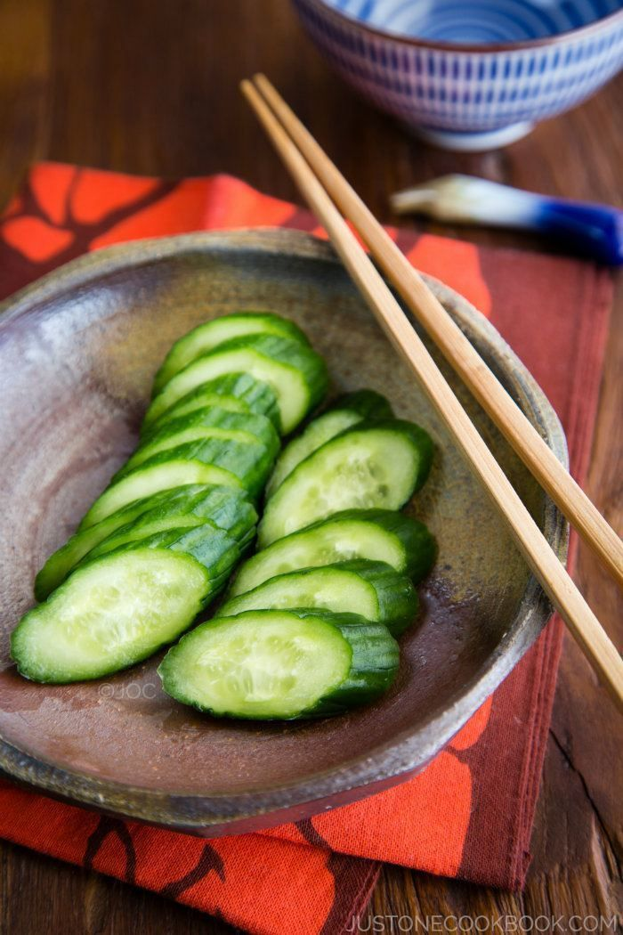 Pickled Cucumber | Easy Japanese Recipes at JustOneCookbook.com Can't eat, and have enough of the traditional recipes for Japanese pickled vegetables.