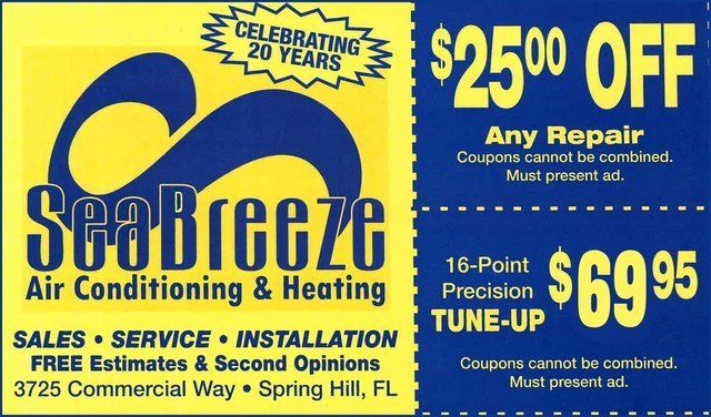 Seabreeze Air Conditioning Heating Spring Hill Fl In 2020