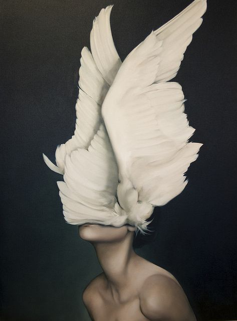 A single event can awaken within us a stranger totally unknown to us. To live is to be slowly born. ~Antoine de Saint-Exupéry | Awakening (oil on canvas), by Amy Judd