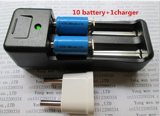 >> Click to Buy << NEW ER14250 battery LS14250 ER14250H 1/2-R6 1/2 AA 3.6V/3.7V 280mah 14250 Rechargeable lithium batteries(10 battery + 1 charger) #Affiliate